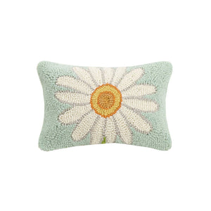 Daisy Hook Pillow, 8 by 12 inches