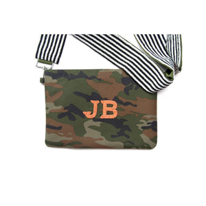 Personalized Camo White Multi Beaded Crossbody (Four Week Delivery)
