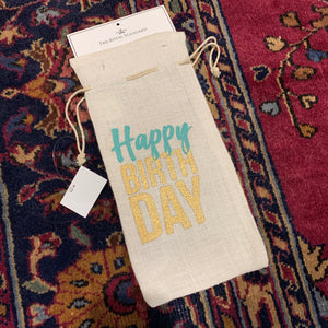 Bottle Bag - Happy Birthday