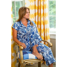 Load image into Gallery viewer, Pajamas - Garden Party Sateen Capri Pajama Set