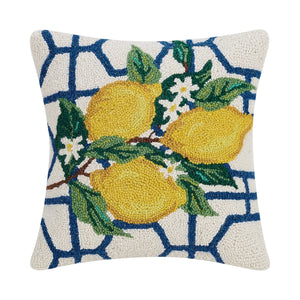 Lemon Hook Pillow, 16 by 16 inches