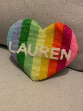 Load image into Gallery viewer, Personalized Rainbow Stripes Large Coin Purse (Four Week Delivery)