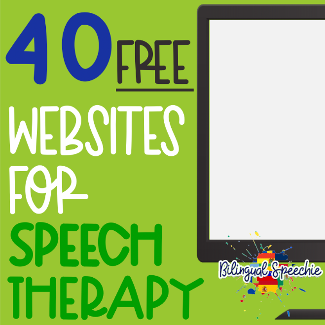 40 FREE Websites for Speech Therapy