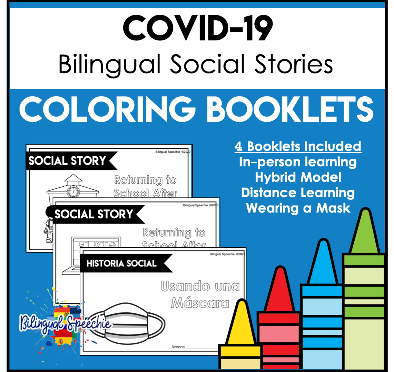 COVID-19 Bilingual Social Stories | Coloring Booklets