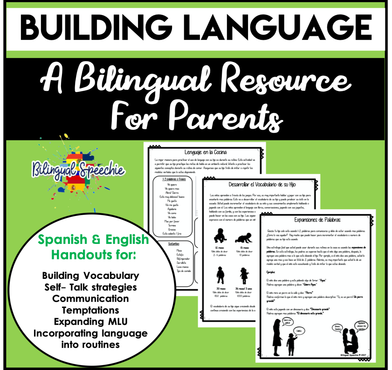 Building Language | Bilingual (Spanish & English) Handouts for Parents