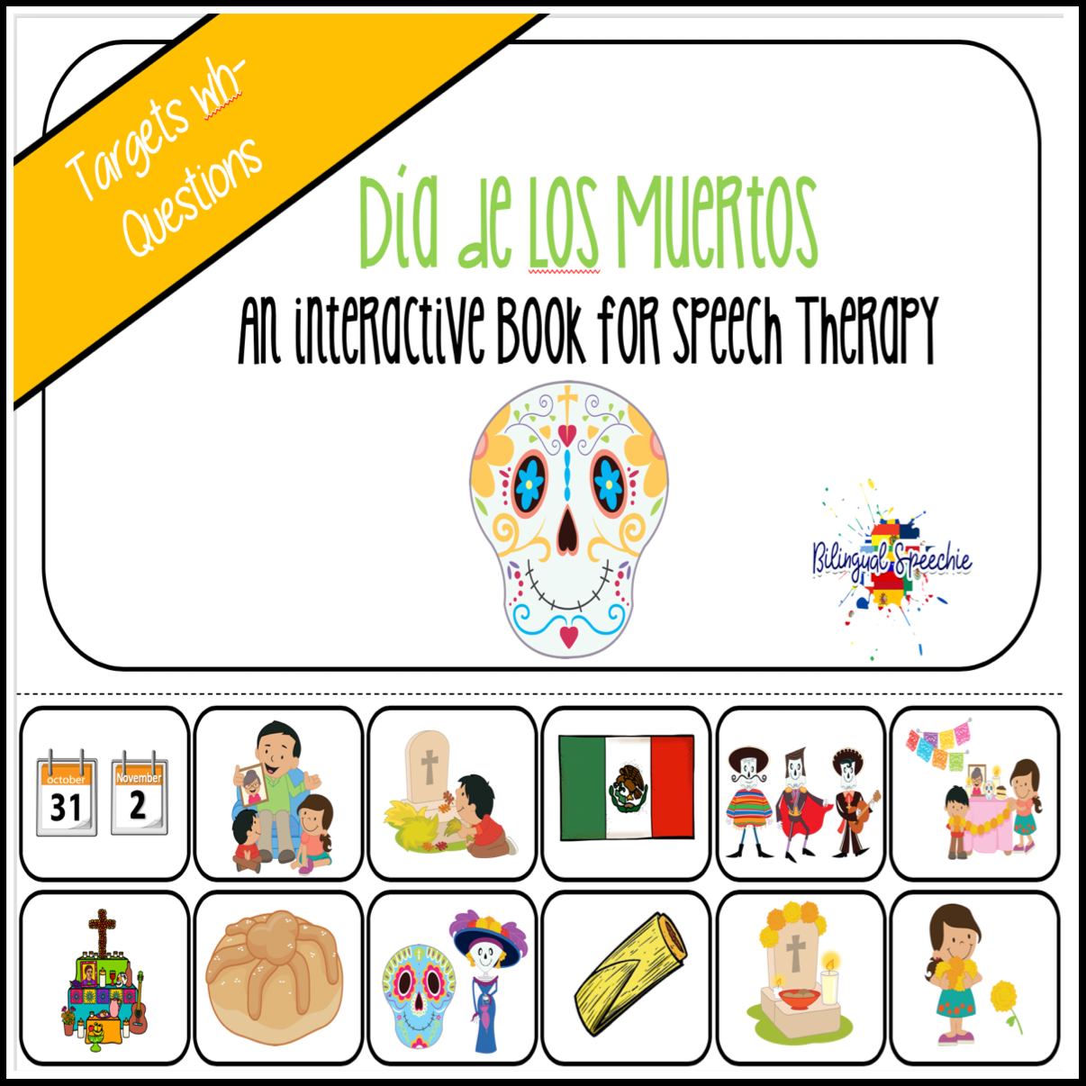 Day of the Dead | Dia de los Muertos Interactive Book
