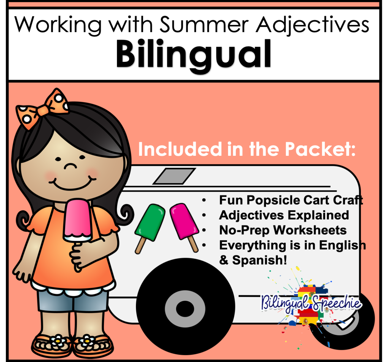 Bilingual Summer Adjectives | No-Prep