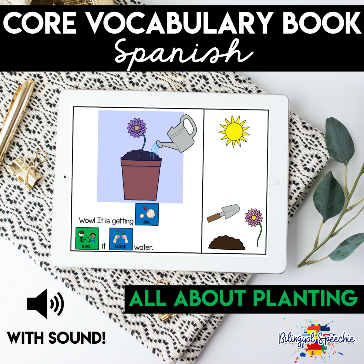 BOOM Cards in Spanish | Planting-Themed & Core Vocabulary
