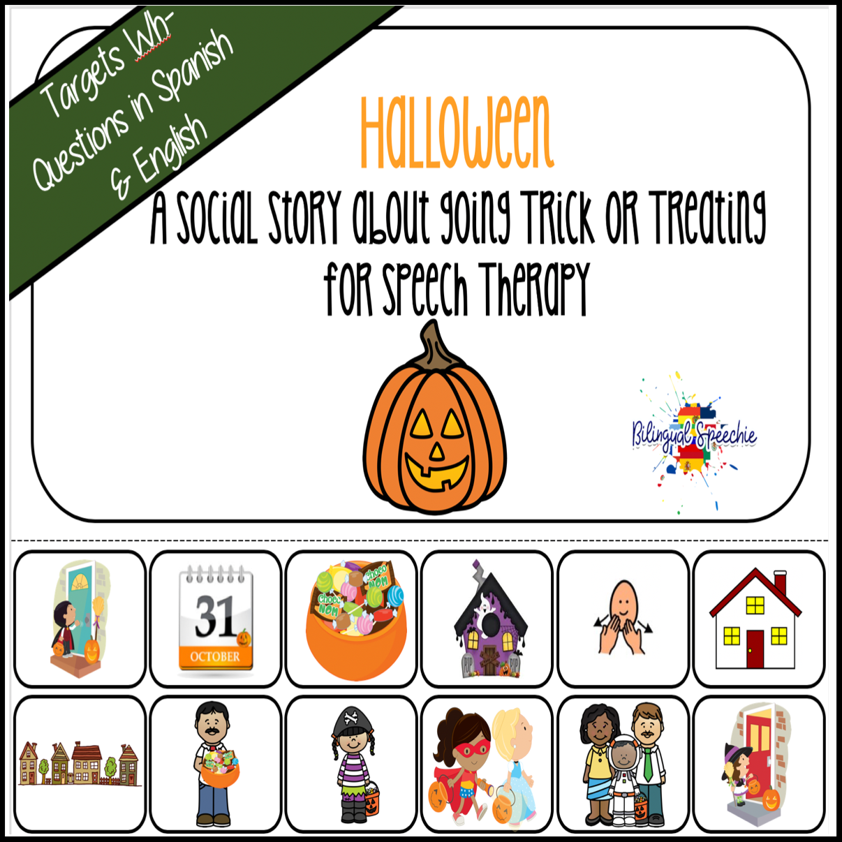 Halloween Social Story Book | Spanish & English