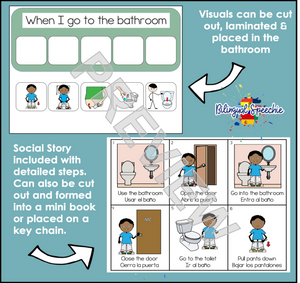 Toilet Training Visuals | Bilingual