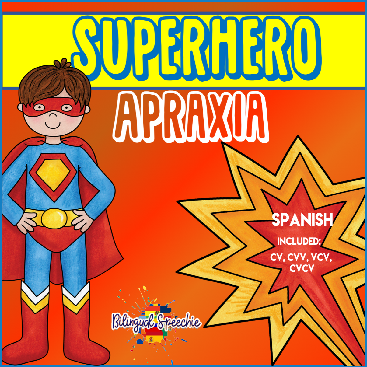Superhero Apraxia Syllable Shapes | SPANISH