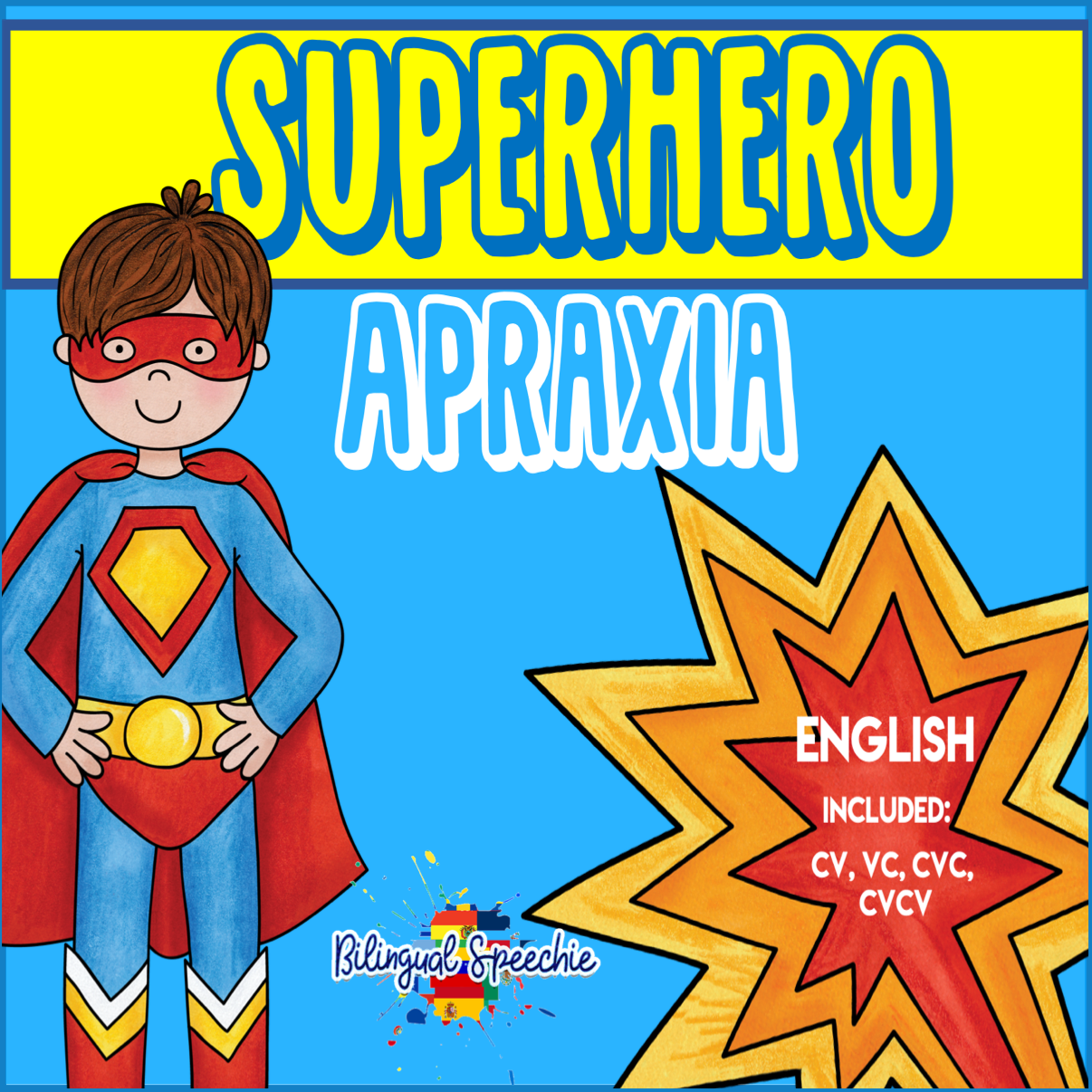 Superhero Apraxia Syllable Shapes | English