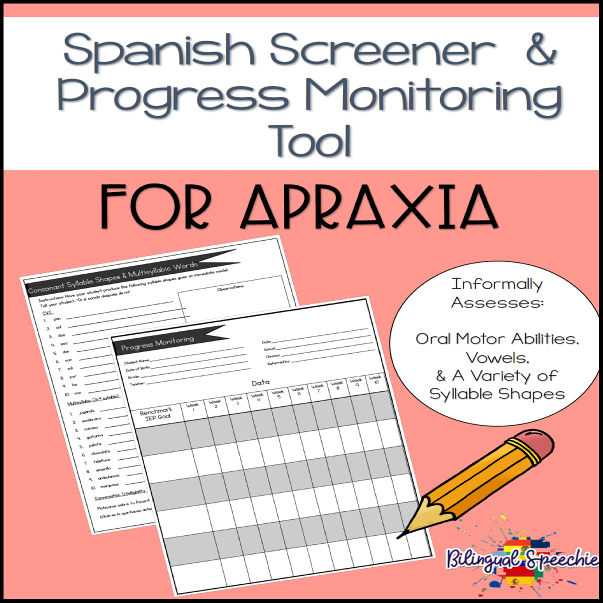 Apraxia Screener & Progress Monitoring Tool | Spanish