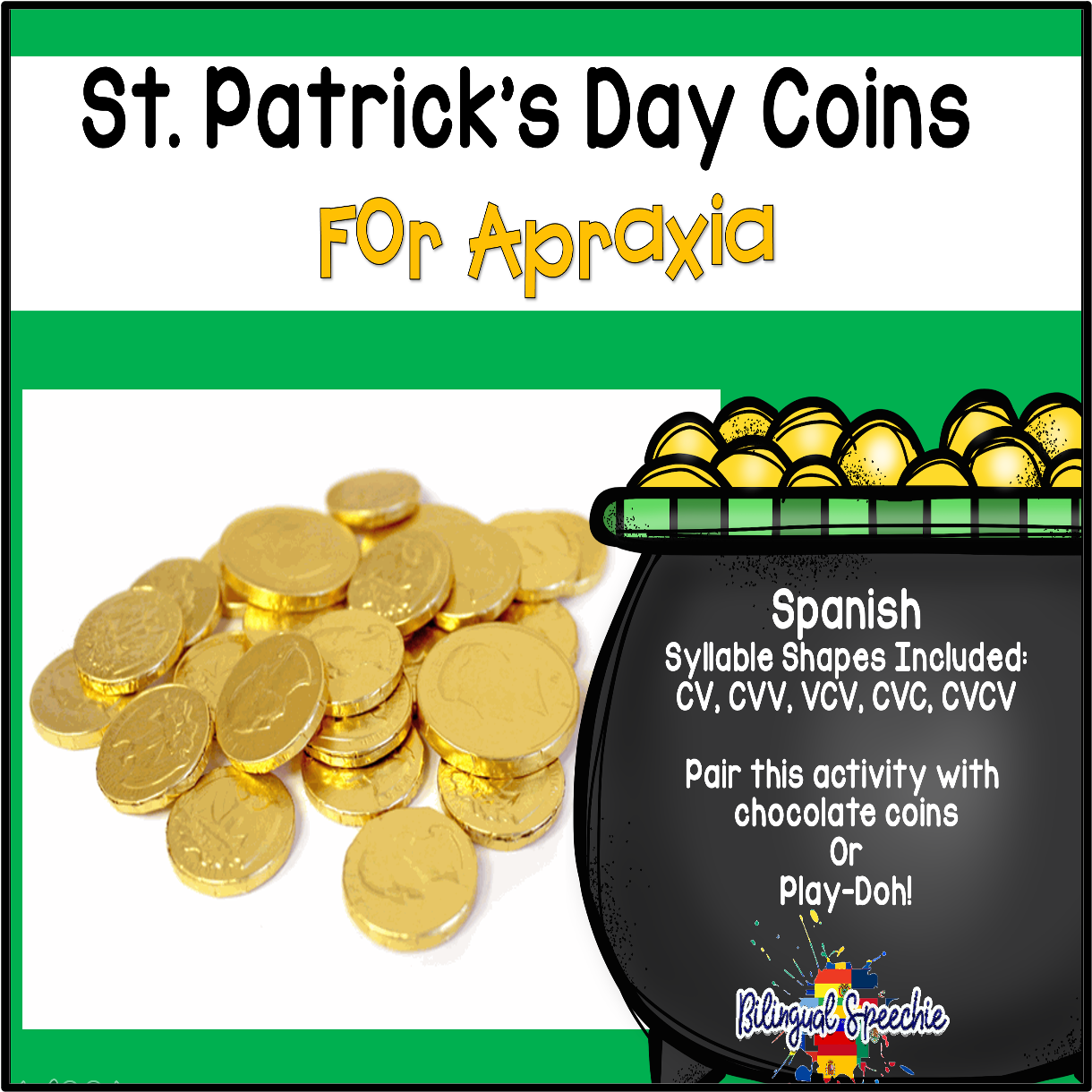 St. Patrick's Day Mats for Apraxia | Spanish
