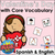 Valentine's Day with Core Vocabulary | Spanish & English