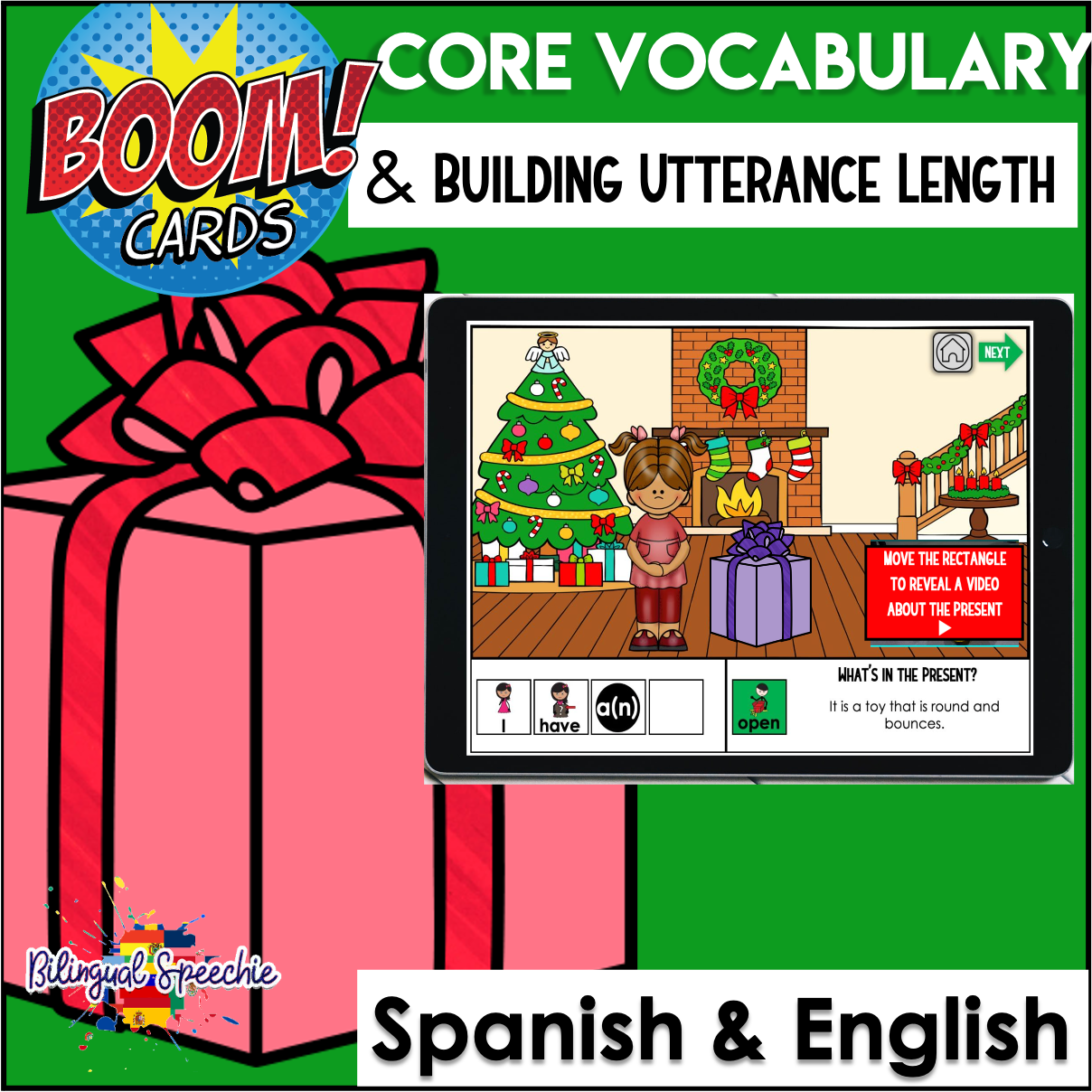 Bilingual Core Vocabulary & MLU | Christmas Themed