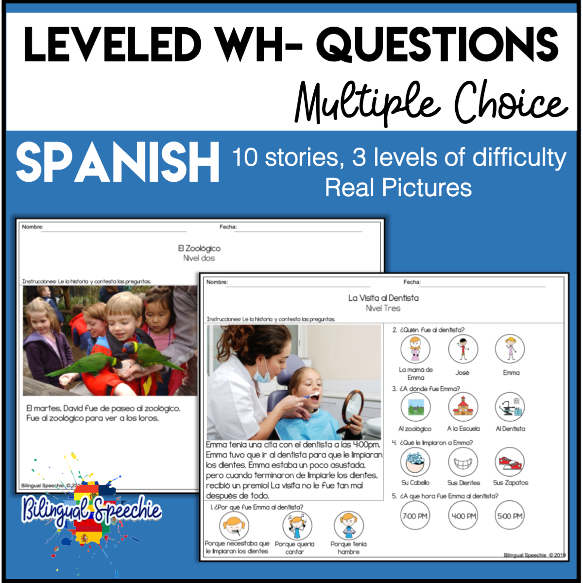 Spanish | Leveled WH- Questions