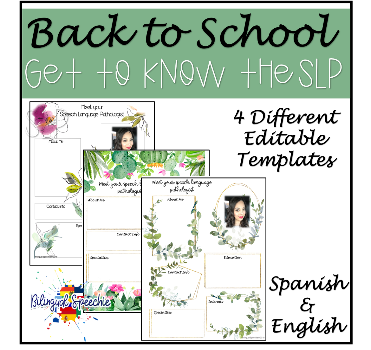 Meet the Speech Therapist | EDITABLE | Spanish & English