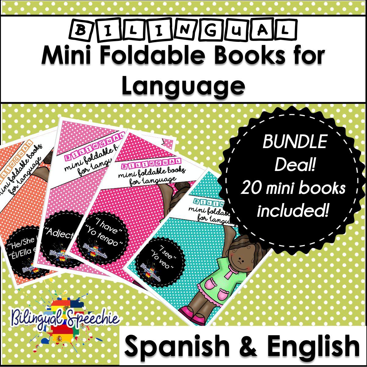 BUNDLE | Bilingual Foldable Mini Books for MLU