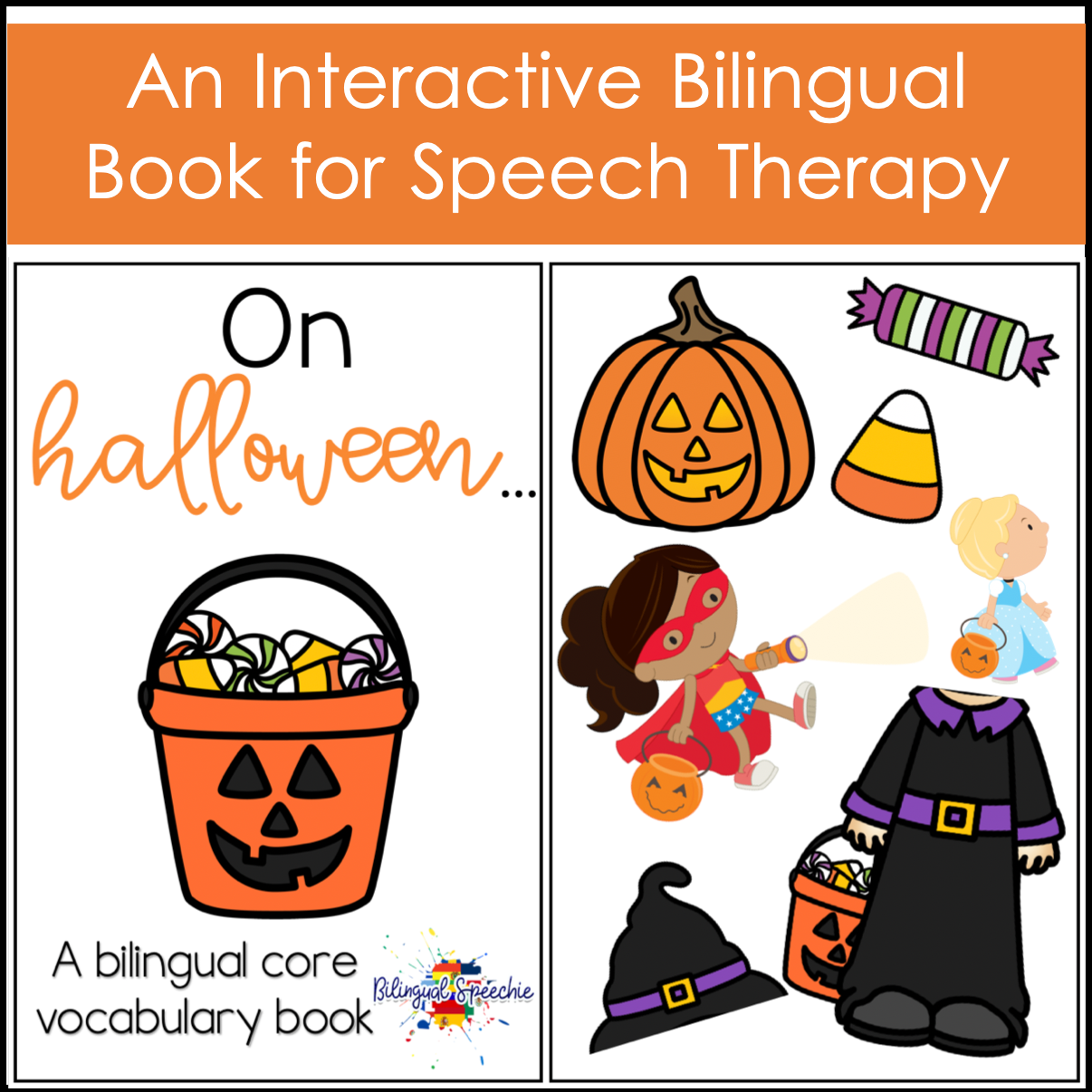 Halloween Bilingual Core Vocabulary Book