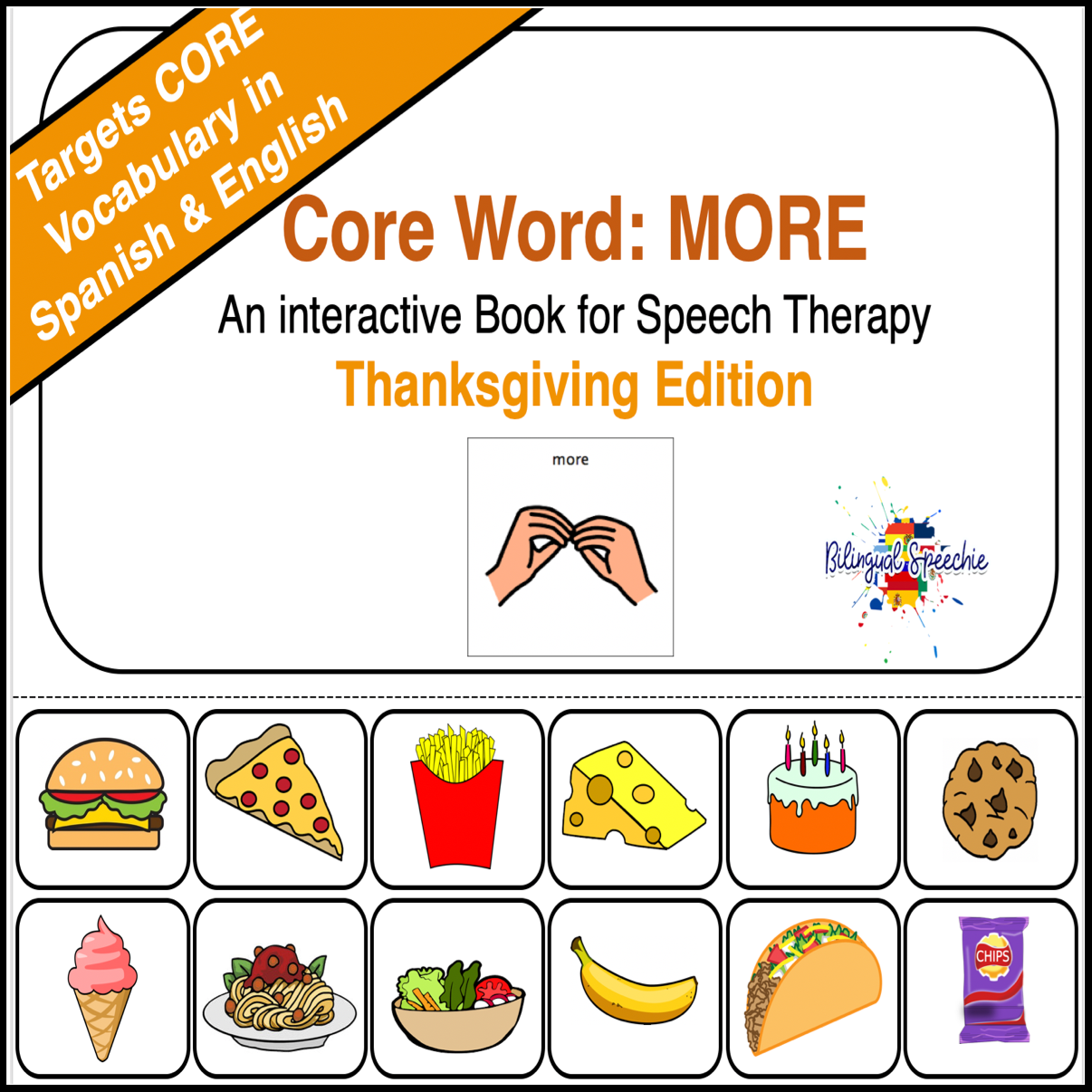 Spanish & English Core Vocabulary Book: MORE