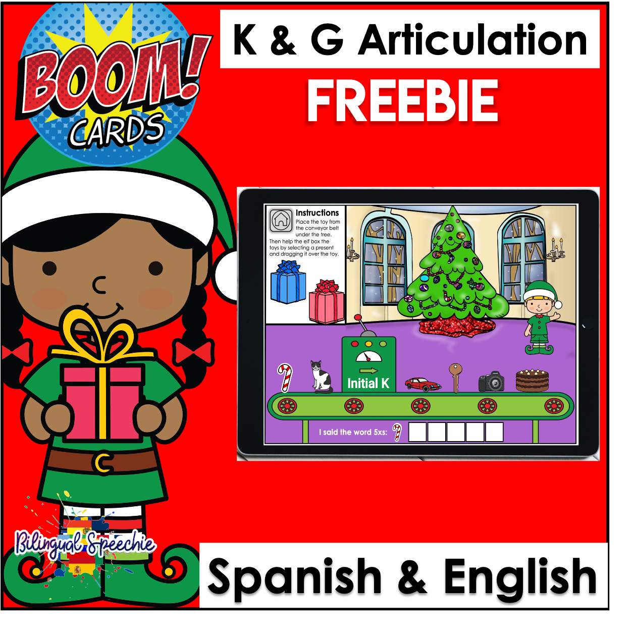 Santa's Workshop | Bilingual K & G Articulation