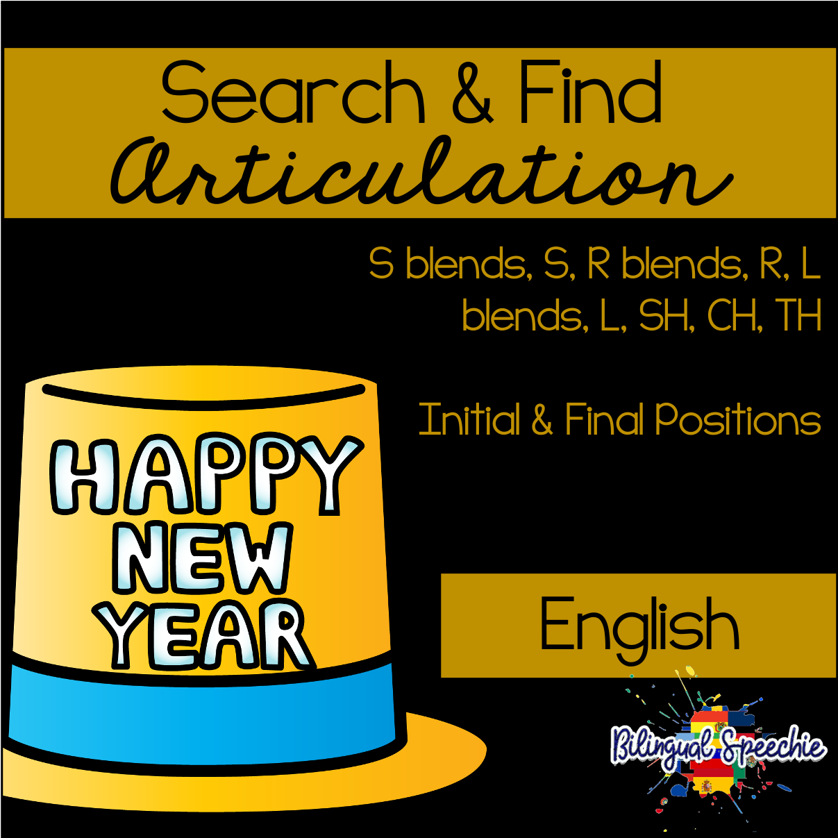 Search & Find Articulation | English | New Year Themed