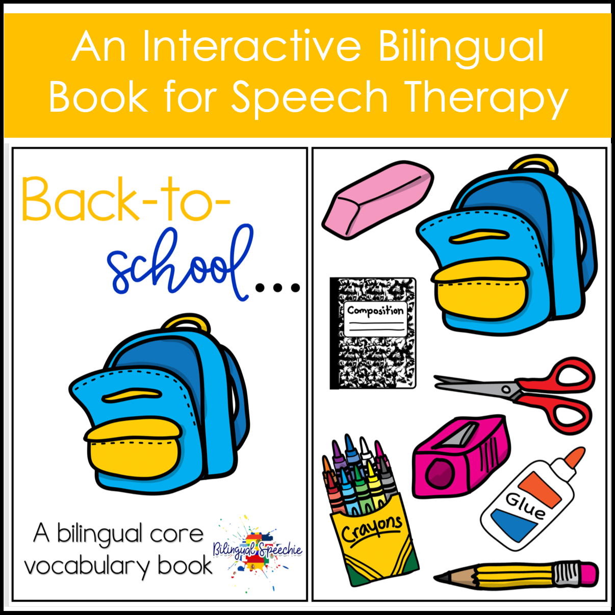 Back-to-School Core Vocabulary Book | BILINGUAL