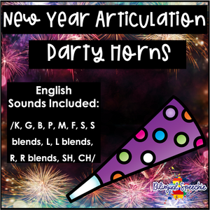 2021 New Year Articulation Party Horns | ENGLISH