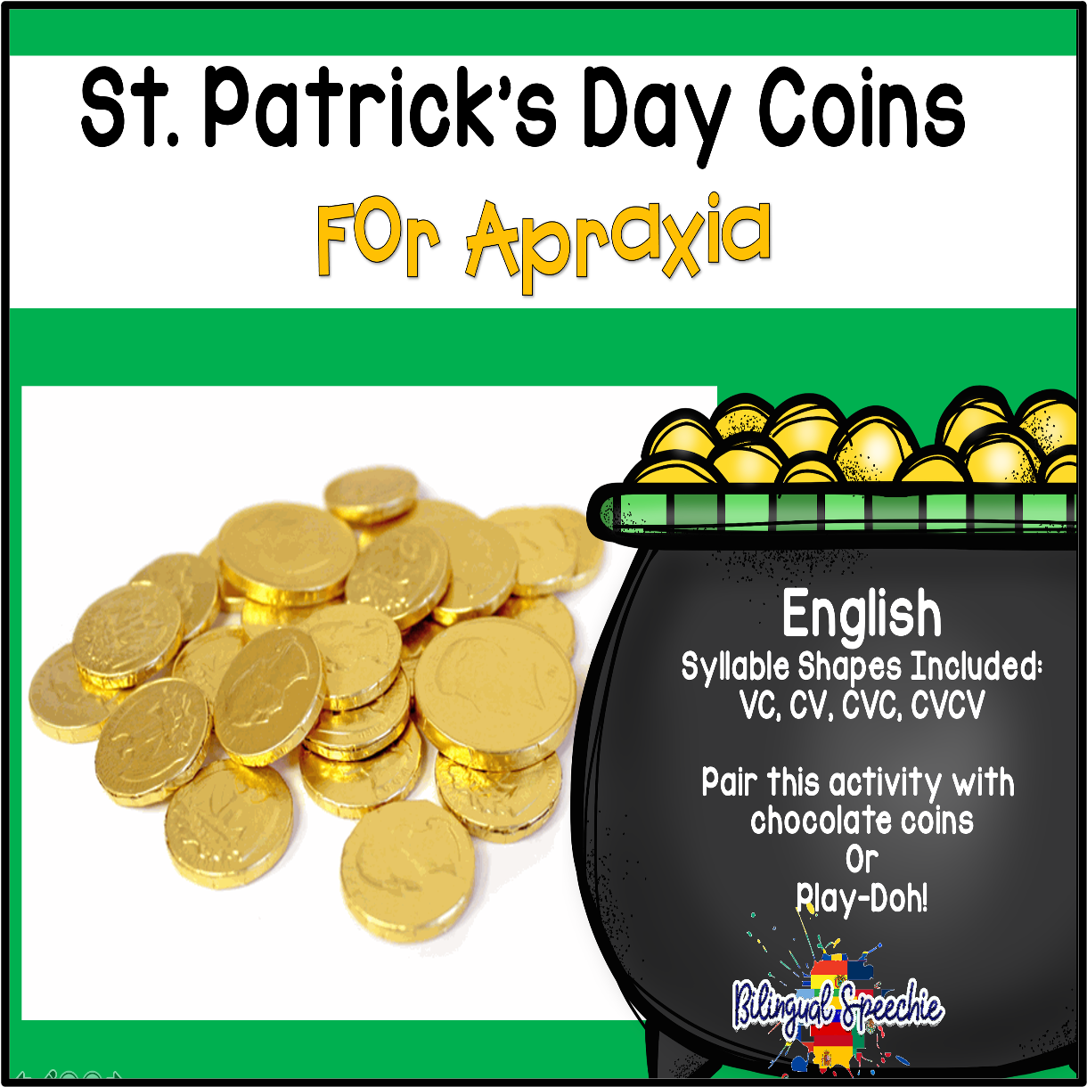 St. Patrick's Day Mats for Apraxia | English