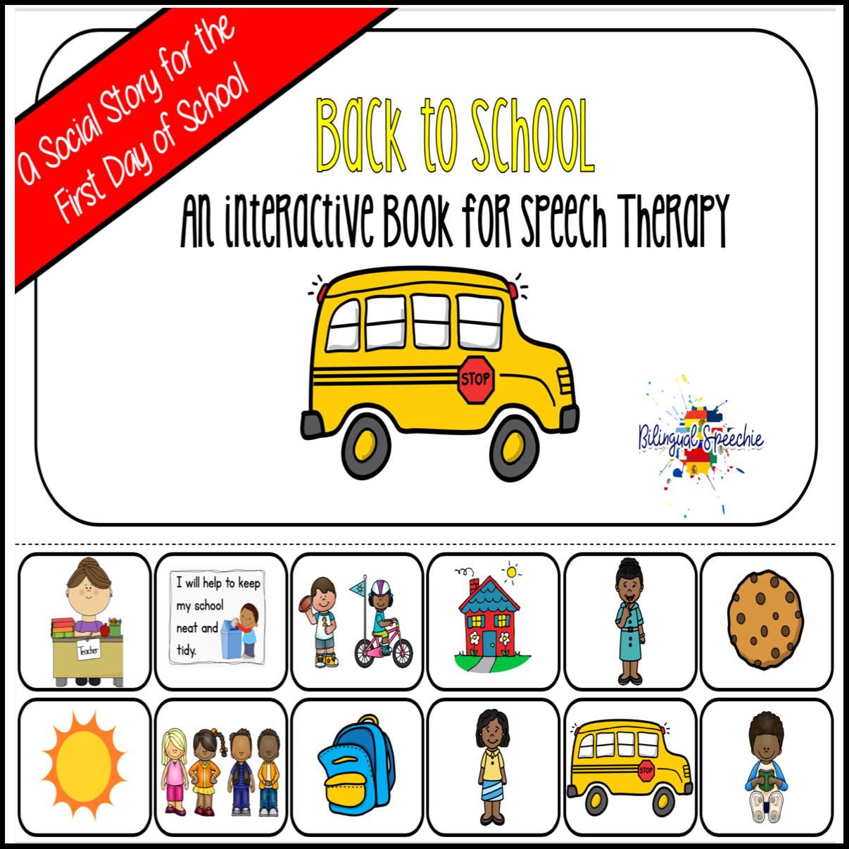 Back-to-School Interactive Book & Social Story | Spanish