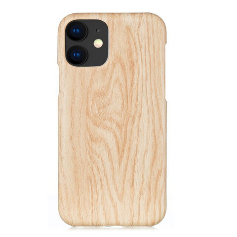 Binmer Wood Grain Phone Case For iPhone 11