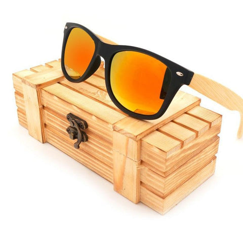 BOBO BIRD Bamboo Polarized Lens Sunglasses