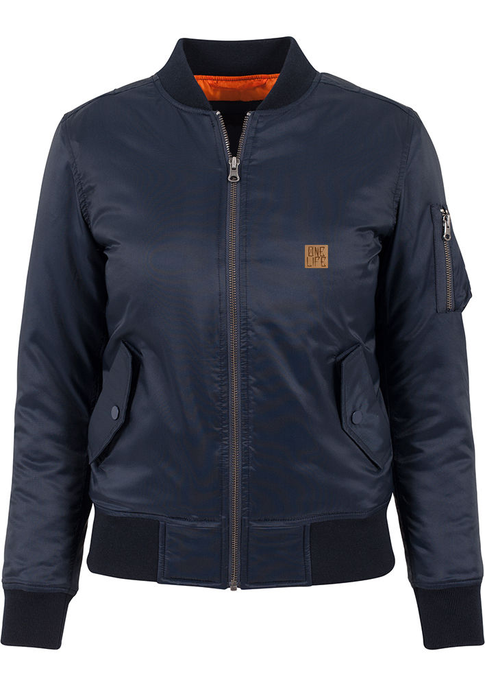 Onelife Apparel Ladies Navy Bomber Jacket