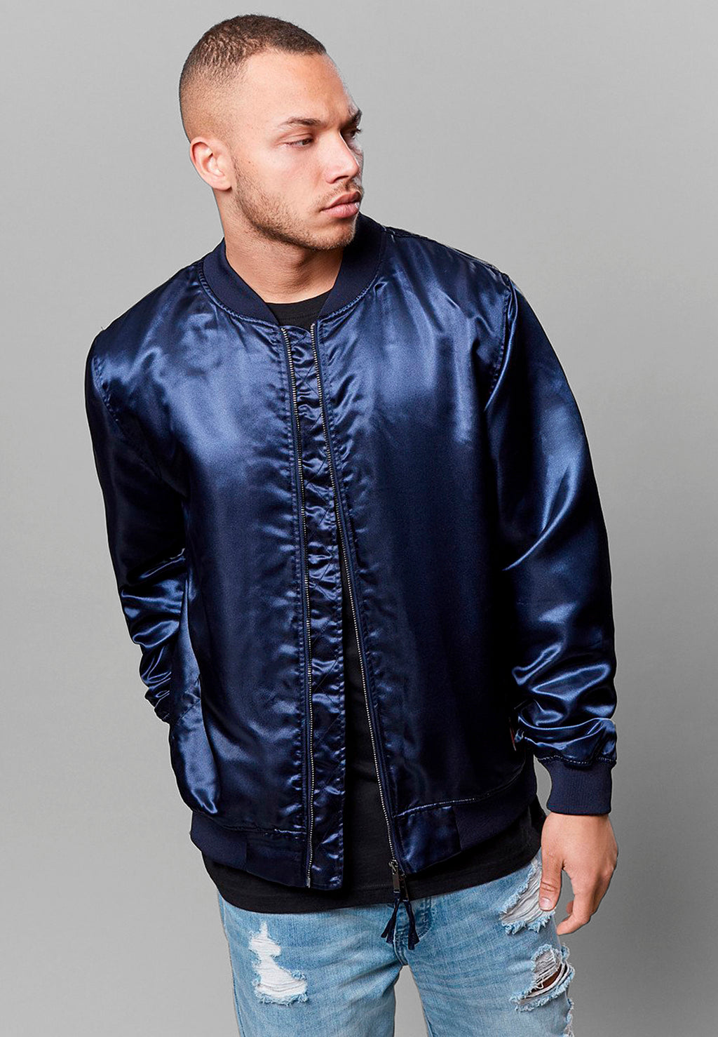 CSBL Caylor and Sons Fam Satin Bomber Jacket