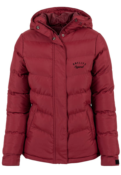 Onelife Apparel OL Ladies Bubble Jacket Burgundy
