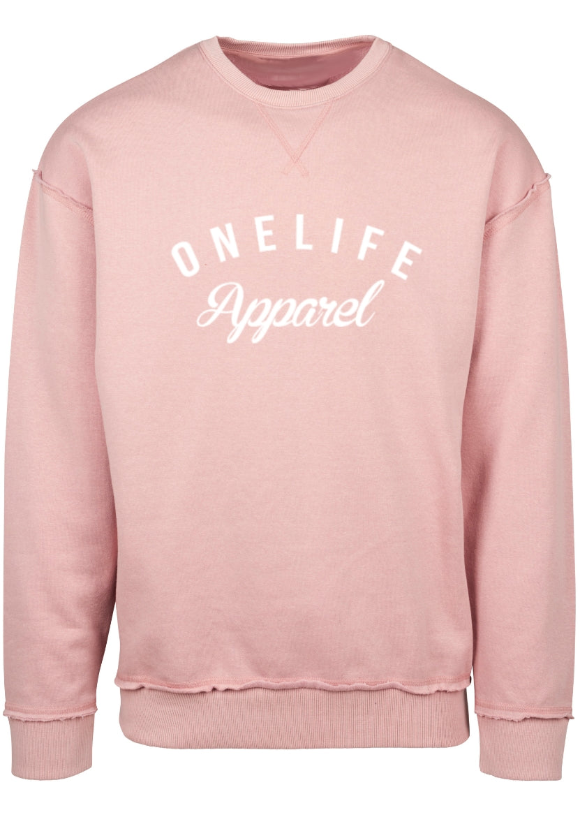 Onelife Apparel OLA Logo Oversized Sweatshirt Lightrose