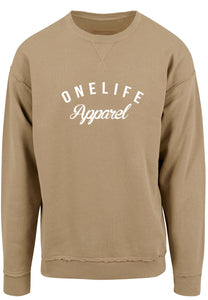 Onelife Apparel OLA Logo Oversized Sweatshirt Sand