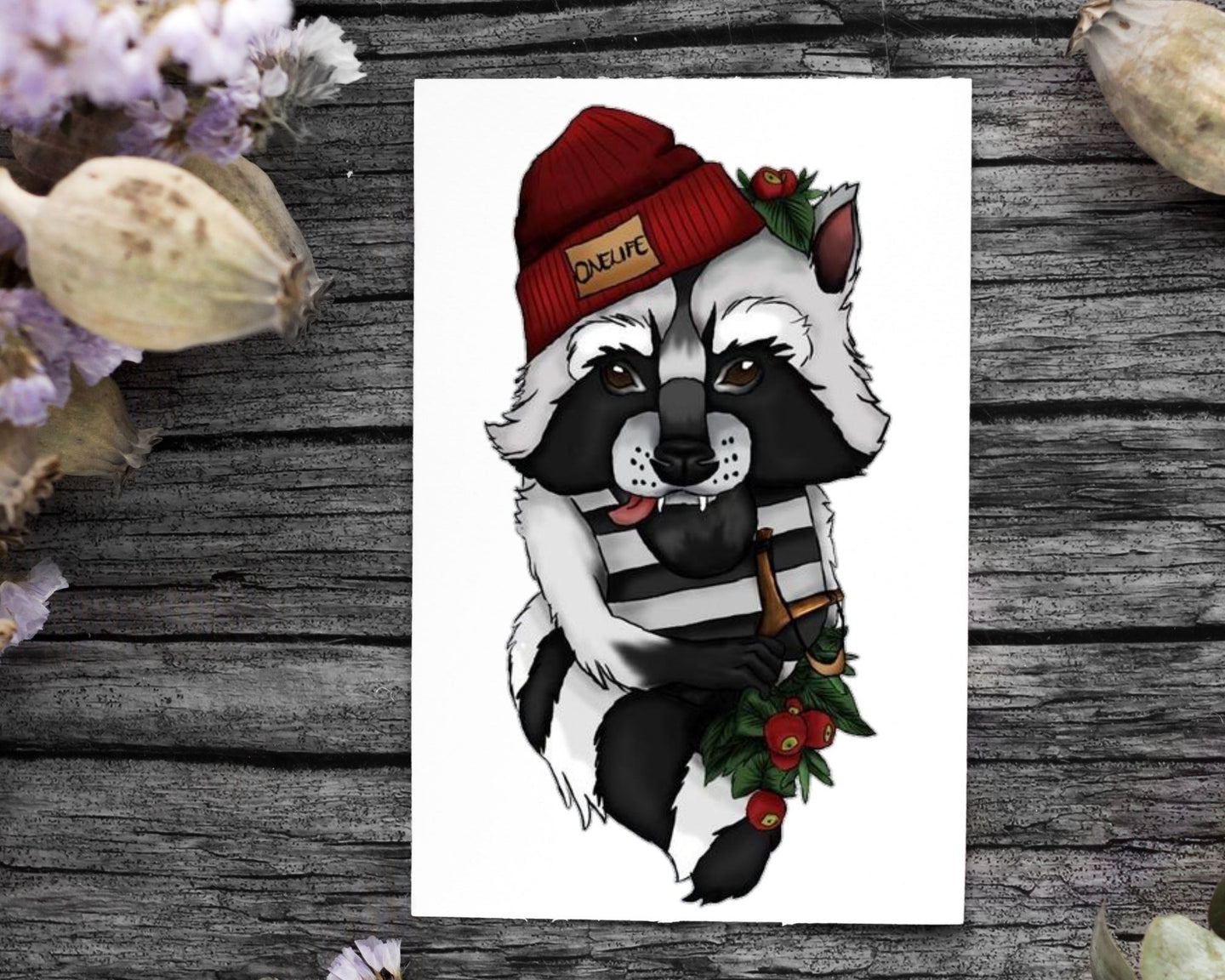 Onelife Living Raccoon Poster A1 | A2 | A3