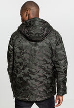 Lade das Bild in den Galerie-Viewer, Onelife Apparel OLA Logo Padded Camo Pull Over Jacket Darkolive