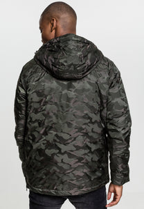 Onelife Apparel OLA Logo Padded Camo Pull Over Jacket Darkolive