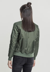 Onelife Apparel Ladies Bomber Jacket olive