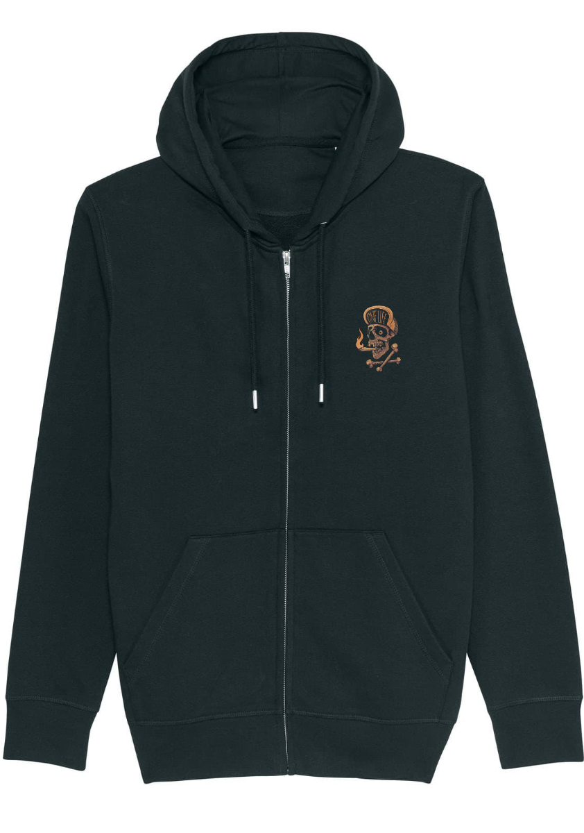 Onelife Apparel Dirty Smoke Zip-Hoodie Unisex BIO | 3 Colours