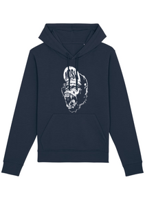 Onelife Apparel Mosh Ape Hoodie Unisex | Small or Big Print | BIO or REGULAR |  3 Colours