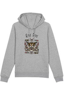 Onelife Apparel Flying Tiger With A Siamese Snake Hoodie Unisex | BIO or REGULAR |  4 Colours