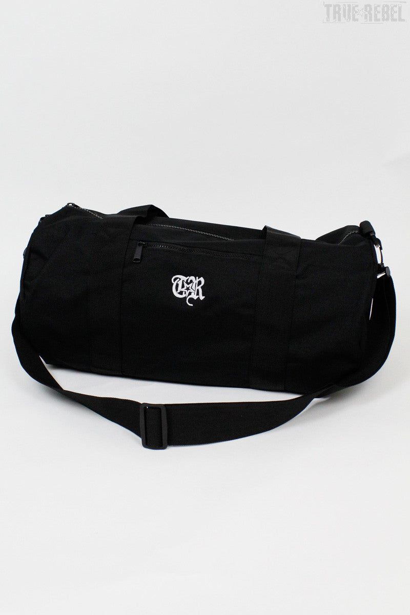 True Rebel Streetwear Barrel Bag TR Black