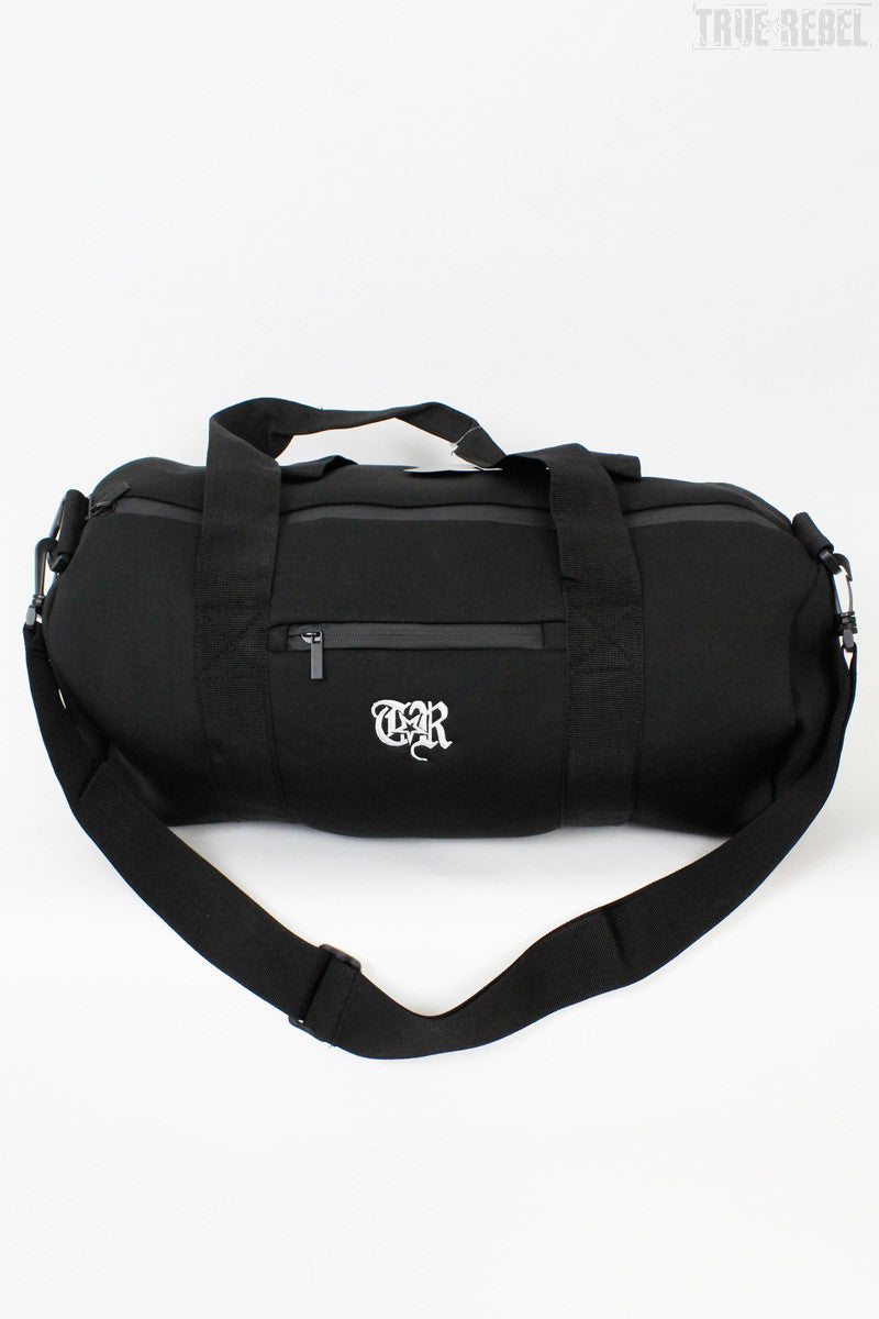 True Rebel Streetwear Barrel Scuba Bag TR Black