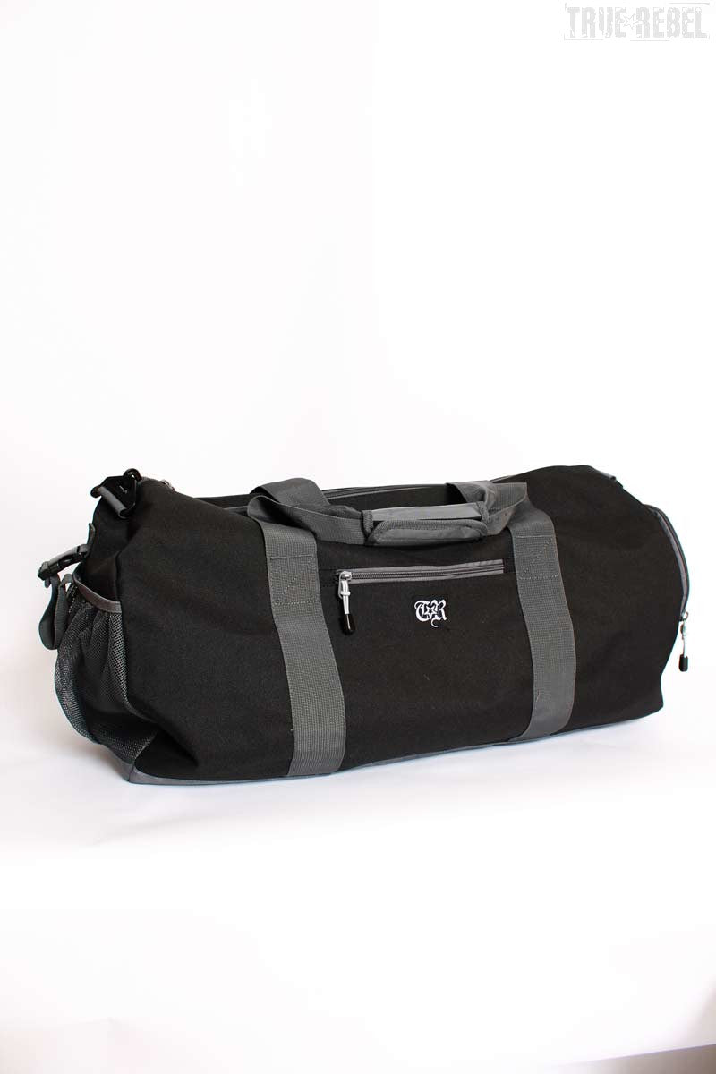 True Rebel Streetwear Kit Bag TR Black/Grey