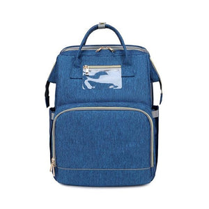LinePeek Bag blue / China Best Parents Diaper Backpack