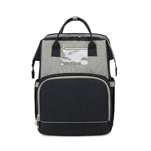 LinePeek Bag grey black / China Best Parents Diaper Backpack